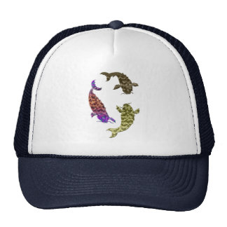 Koi carp digital art design cap