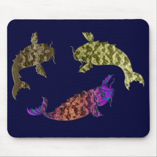 Koi carp digital art mouse mat