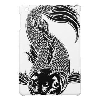 Koi Carp Fish Woodcut Style iPad Mini Cases