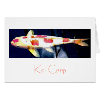Koi Carp Greeting Card Design