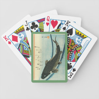 Koi (Carp) - Hiroshige's Japanese Fish Print Bicycle Playing Cards
