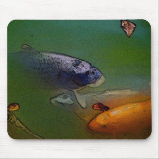 Koi Carp in Fish Pond Mouse Mat