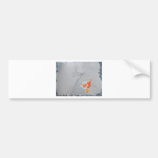 Koi carp in pond bumper sticker