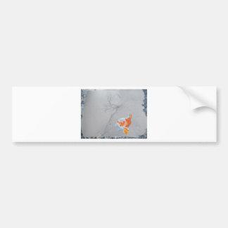 Koi carp in pond bumper sticker