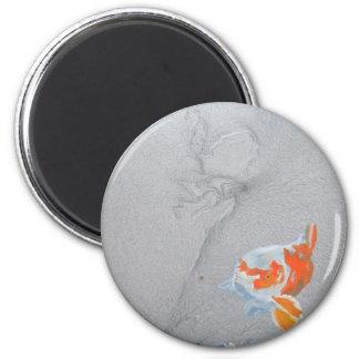Koi carp in pond magnet