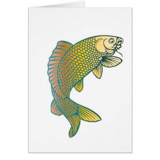 Koi Carp Japanese Fish Note Card