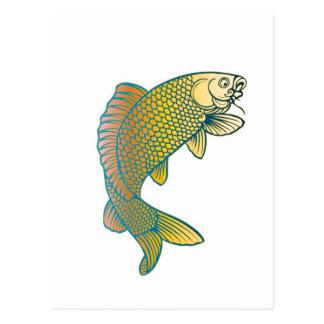 Koi Carp Japanese Fish Postcard