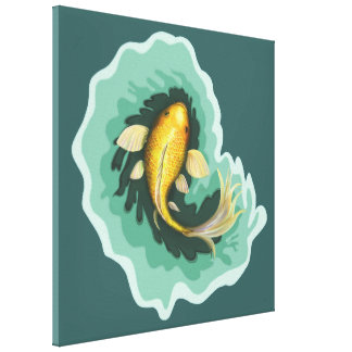Koi Carp Painting Canvas Print