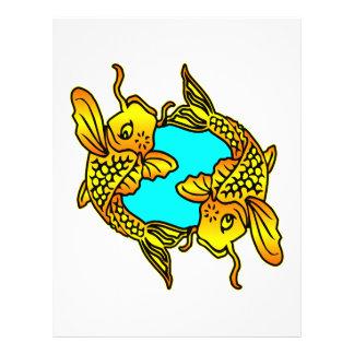 Koi, Carp, Pisces Personalized Flyer