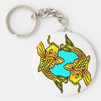 Koi, Carp, Pisces Key Ring