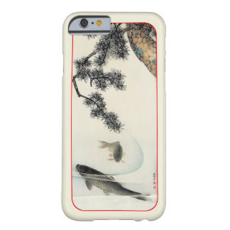 Koi carp under a pine branch vintage print barely there iPhone 6 case