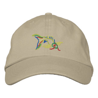 Koi Embroidered Baseball Cap