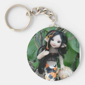 Koi Faery Basic Round Button Key Ring