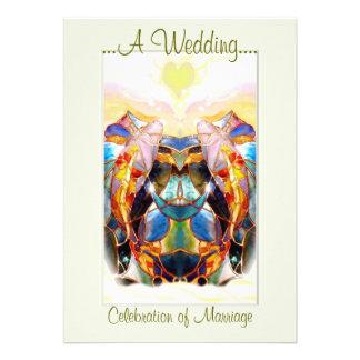 Koi Fantasy Lovely Wedding Ceremony Invitation