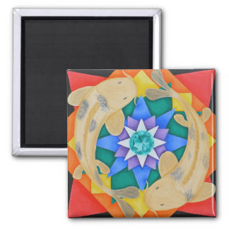 Koi Fish and Lotus Magnet
