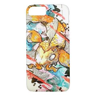 Koi fish art, watercolor Japanese art iPhone 7 Case