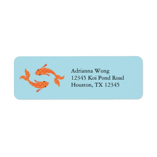 Koi Fish Avery Label