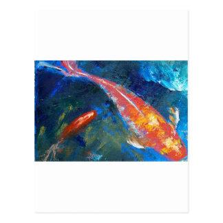 Koi Fish Beauty Postcard