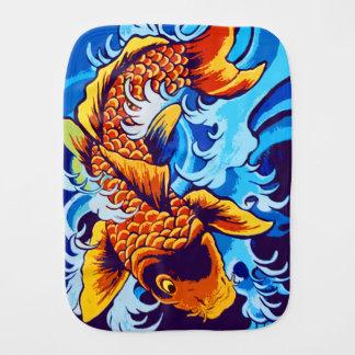 Koi Fish Burp Cloth