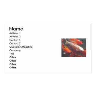 Koi Fish Business Card Templates