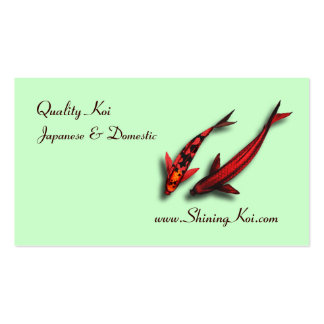 Koi Fish Business Card Template