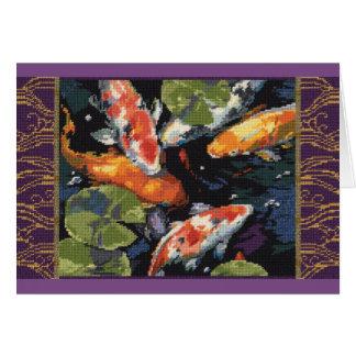 Koi Fish Card