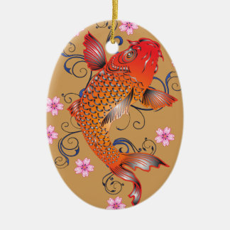 Koi fish christmas ornament
