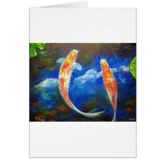 Koi Fish Cloud Reflections Card