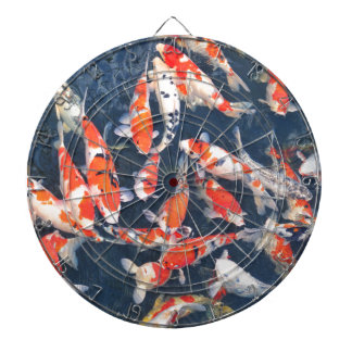 Koi fish dartboard