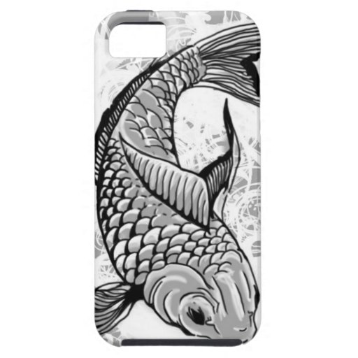 Koi fish (gray) case for iPhone 5/5S