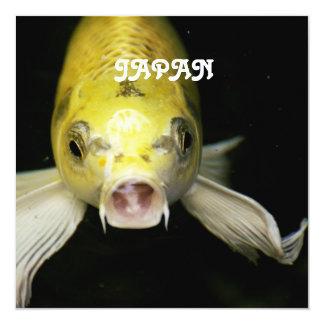 Koi Fish in Japan 13 Cm X 13 Cm Square Invitation Card