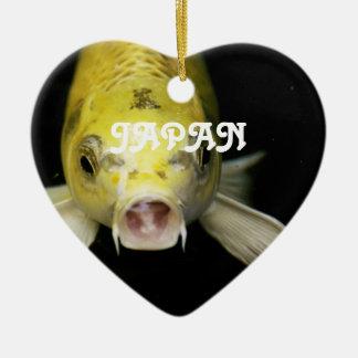 Koi Fish in Japan Ceramic Heart Decoration