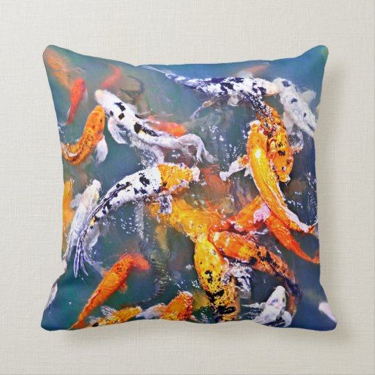 Koi fish in pond cushion