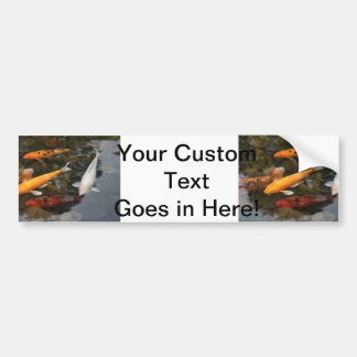 Koi Fish In Pond Photograph Bumper Sticker