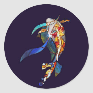 Koi Fish in Space Cool Stickers right
