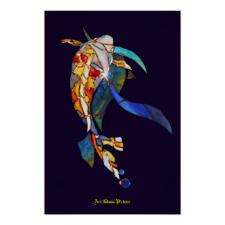 Koi fish in Space Wall Decor Artistic Picture