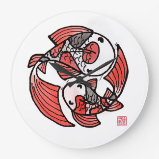 Koi Fish Large Clock