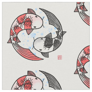 Koi Fish Motif Fabric