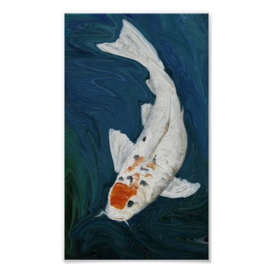 """Koi"" Fish Oil  Reproduction Art Print"