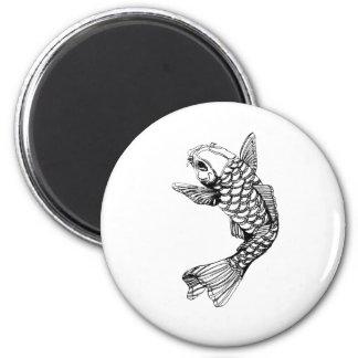 Koi Fish Outline Magnet