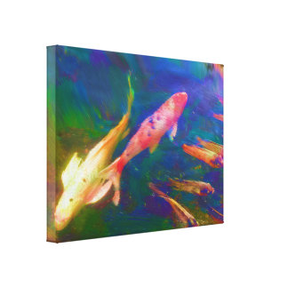 Koi Fish Painting Canvas Print.
