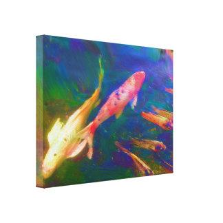 Koi Fish Painting Canvas Print. Canvas Print
