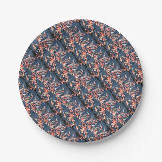 Koi fish paper plate