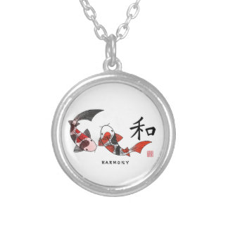 Koi Fish Pendant With Harmony Chinese Character