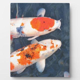 Koi fish plaque