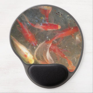 Koi Fish Pond Gel Mouse Mat