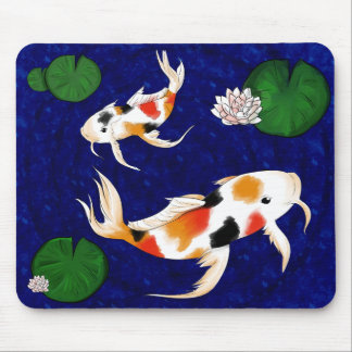 Koi Fish Pond Mouse Mat
