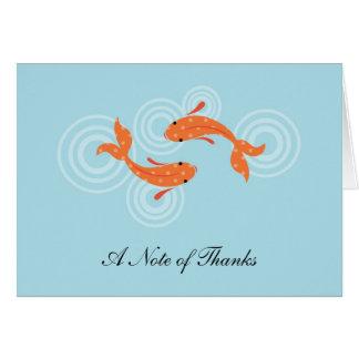 Koi Fish Pond Thank You Card