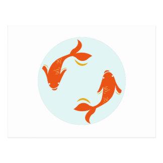 Koi Fish Post Cards