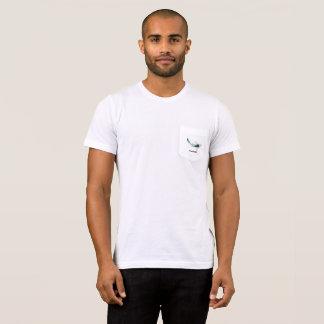 Koi Fish Preppy Penguin White T-Shirt with Pocket